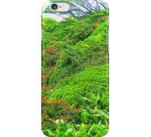 Orange Flowering Trees in hawaii iPhone Case/Skin