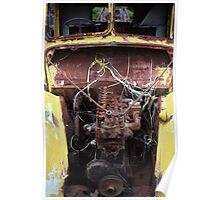"""""""Yellow Skeleton"""" ~ Abandoned Transport Museum, Seacliff, NZ"""" Poster"""