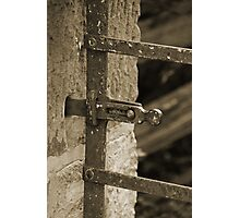 Gate latch Photographic Print