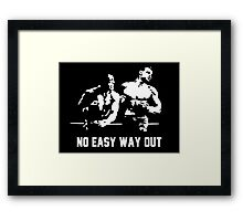 Rocky no easy way out Framed Print
