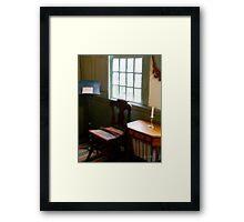 Still Life, Stevens House Framed Print