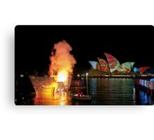 Fire Water (Sydney - Campbells Cove, The Rocks) Canvas Print