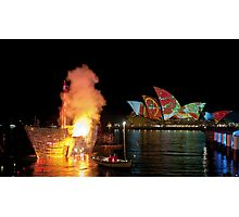 Fire Water (Sydney - Campbells Cove, The Rocks) Photographic Print