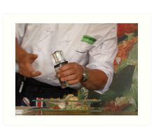 Lunch..... prepared by Simon Woodhouse Art Print