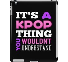A KPOP THING - BLACK iPad Case/Skin