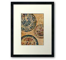 antique plates Framed Print