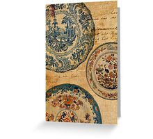 antique plates Greeting Card