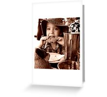 Cookie Monstar Greeting Card