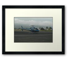 Blue Hawaiian Helicopter Framed Print