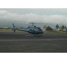 Blue Hawaiian Helicopter Photographic Print
