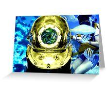 Underwater Dive Helmet Greeting Card