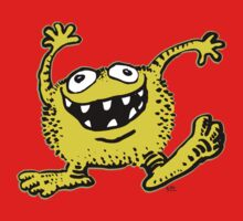 Cute Cartoon Yellow Monster by Cheerful Madness!! Kids Tee