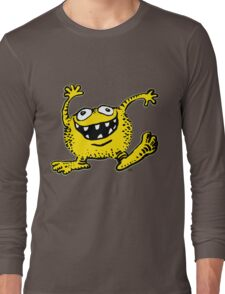 Cute Cartoon Yellow Monster by Cheerful Madness!! Long Sleeve T-Shirt