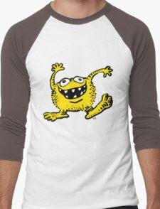 Cute Cartoon Yellow Monster by Cheerful Madness!! Men's Baseball ¾ T-Shirt