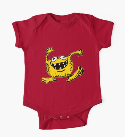 Cute Cartoon Yellow Monster by Cheerful Madness!! One Piece - Short Sleeve
