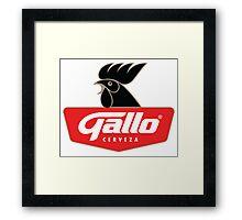 Gallo Cerveza - Best Beer In Guatemala Central America Framed Print