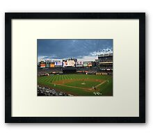 Yankee Stadium Subway Series Framed Print