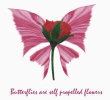 Butterfly Flowers by KissesOfPain