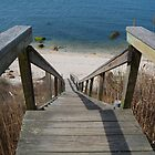 The Beach Stairs by John  Kapusta
