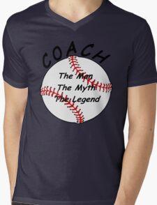 Baseball / Softball Coach - The Man - The Myth - The Legend Mens V-Neck T-Shirt