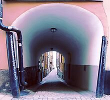Stockholm. Blue Passage in Gamla Stan by Igor Shrayer