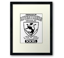 Xcrawl Adventurers Guild  Framed Print