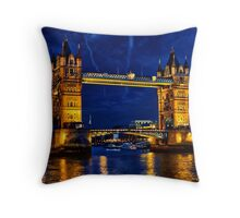Glow of the night  Throw Pillow