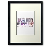 Dunder Mifflin (galaxy!!) Framed Print