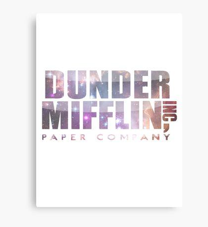 Dunder Mifflin (galaxy!!) Canvas Print