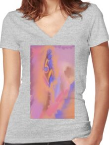 Random Abstract 2 Women's Fitted V-Neck T-Shirt