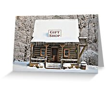 Gift Shop Winter Painting Greeting Card