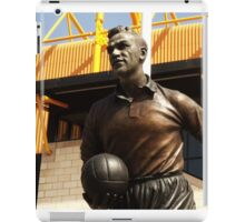 statue out side a football stadium iPad Case/Skin