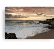 Dramatic sunset in Newquay Canvas Print