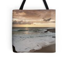 Dramatic sunset in Newquay Tote Bag