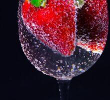 A Refreshing Glass Of Strawberries Sticker
