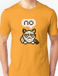 A Very Unhappy Pixel Kitty. Unisex T-Shirt
