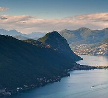 Monte San Salvatore and lake of Lugano by peterwey