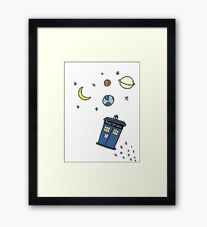 Little Tardis  Framed Print