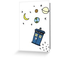 Little Tardis  Greeting Card