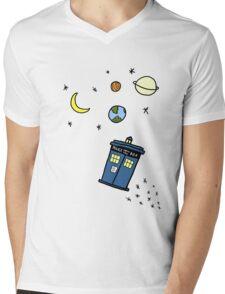 Little Tardis  Mens V-Neck T-Shirt