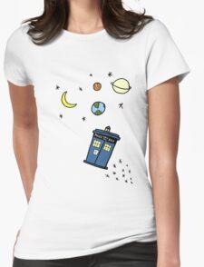 Little Tardis  Womens T-Shirt