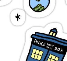 Little Tardis  Sticker
