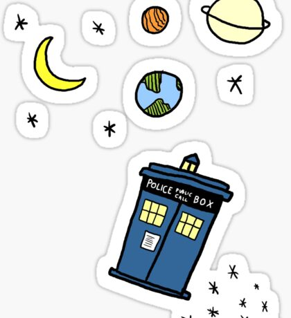 Little Tardis  Sticker