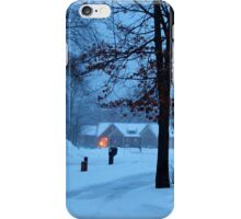 A winter evening. iPhone Case/Skin
