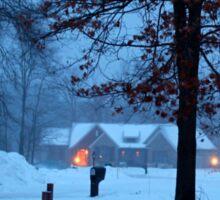 A winter evening. Sticker