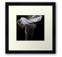 Smoke art abstract Framed Print