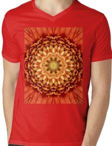 Beautiful flower center. Mens V-Neck T-Shirt