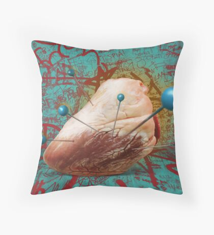 Heart Voodoo Throw Pillow