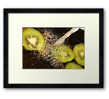 Kiwi fruit. Framed Print