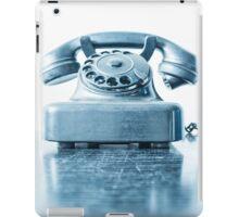 the blue telephone I iPad Case/Skin